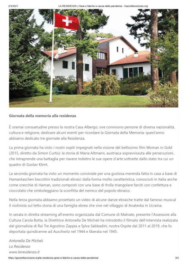 LA RESIDENZA _ Gioie e fatiche a causa della pandemia - Gazzettasvizzera.org_page-0003
